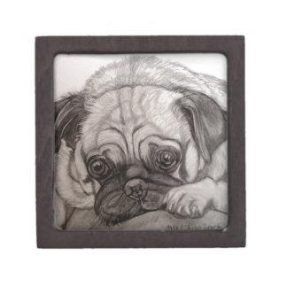 Adorable Pug artwork by Carol Zeock Gift Box