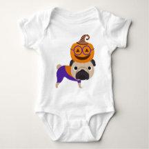 Adorable Pug Pumpkin Head 2 Shirts
