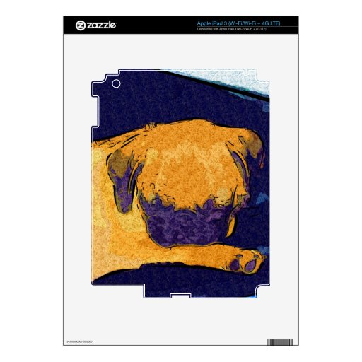 Adorable Pug Puppy Decal For iPad 3