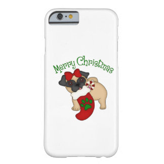 Adorable Pug Themed Holiday Christmas Tees, Gifts Barely There iPhone 6 Case
