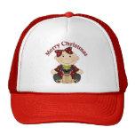 Adorable Pug Themed Holiday Christmas Tees, Gifts Mesh Hats