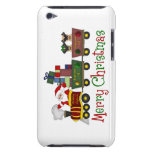 Adorable Pugs and Santa in Toy Train Tees, Gifts iPod Case-Mate Case