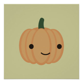 Adorable Pumpkin Poster