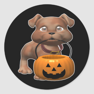 Adorable-Puppy Classic Round Sticker