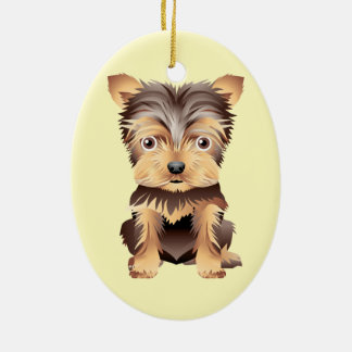 Adorable Puppy Dog multiple products selected Ceramic Ornament
