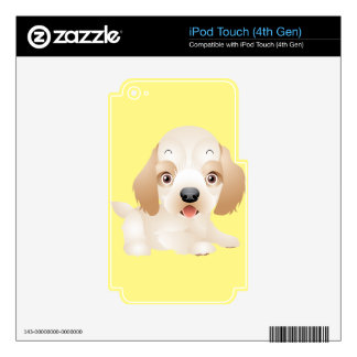 Adorable Puppy Dog multiple products selected Skin For iPod Touch 4G