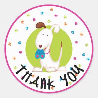 Adorable Puppy Dog Thank You Sticker