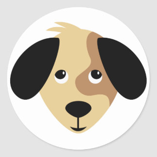 Adorable Puppy Eyes Round Stickers