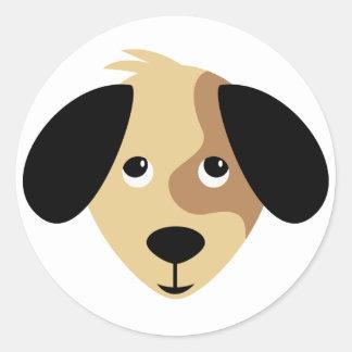 Adorable Puppy Eyes Classic Round Sticker