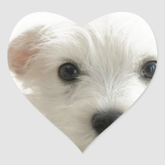Adorable Puppy Heart Stickers