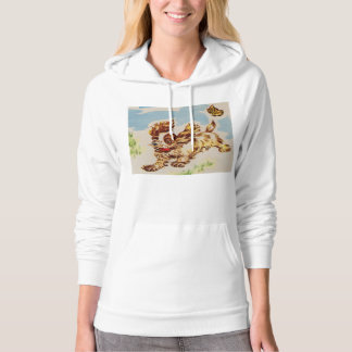 adorable puppy on the run hoodie