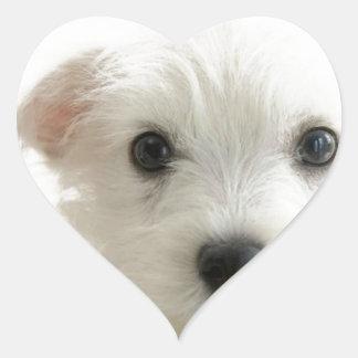 Adorable Puppy Heart Sticker