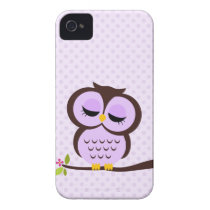 Adorable Purple Owl Case-Mate iPhone 4 Case
