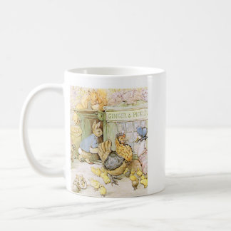 Adorable Rabbit and Poultry Classic White Coffee Mug