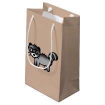 adorable raccoon animal cartoon small gift bag