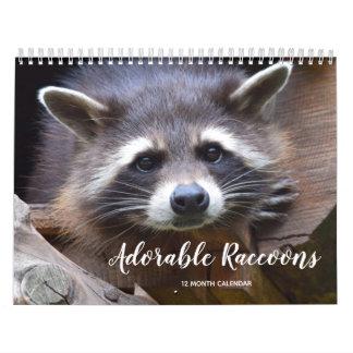 Adorable Raccoons 2019 Calendar