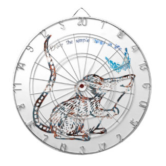 Adorable Rat and Butterfly Friendship Dartboards