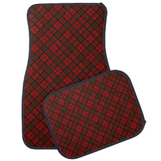Adorable Red Christmas tartan Car Floor Mat