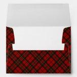 Adorable Red Christmas tartan Envelopes