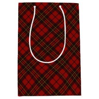 Adorable Red Christmas tartan Medium Gift Bag