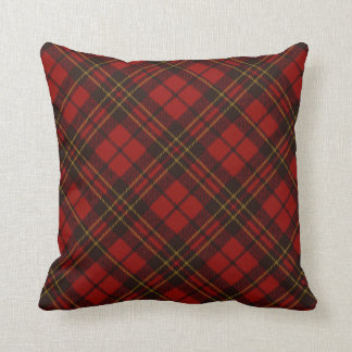 Adorable Red Christmas tartan PLdesign Throw Pillow