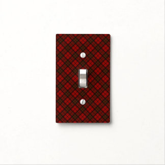 Adorable Red Christmas tartan v2 Light Switch Cover