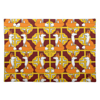 Adorable Red Fox Mojo Place Mat Cloth Place Mat