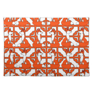 Adorable Red Fox Mojo Place Mat Cloth Placemat
