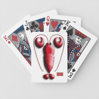Adorable Red Lobster with Heart-Shaped Pincers Bicycle Playing Cards