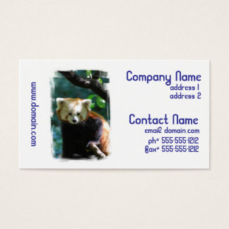 Adorable Red Panda Business Cards