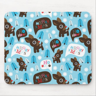Adorable reindeer and Merry Christmas Mouse Pad