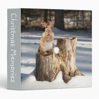 "Adorable ""Reindeer"" Chipmunk 1.5"" Photo Album Binder"