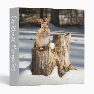 """Adorable """"Reindeer"""" Chipmunk 1"""" Photo Album 3 Ring Binder"""