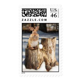 Adorable Reindeer Chipmunk Postage
