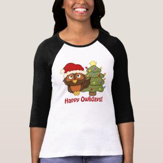 Adorable Retro Christmas Holiday Owl Gifts, Tees