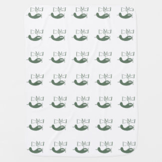 Adorable Retro Olive Green Helicopter Aviation Swaddle Blanket