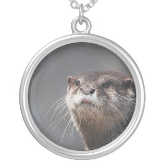Adorable River Otter Personalized Necklace