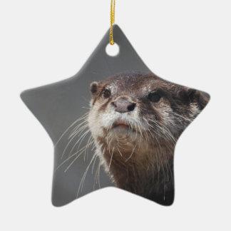 Adorable River Otter Christmas Ornament