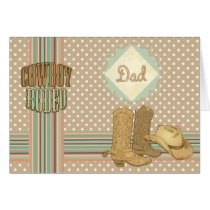 Adorable Rodeo Father's Day Card