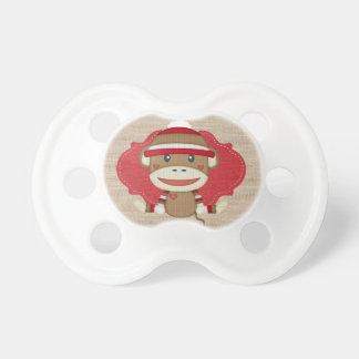 Adorable Rustic Custom Sock Monkey Pacifier