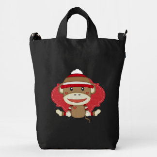 Adorable Rustic Custom Sock Monkey Party Duck Bag