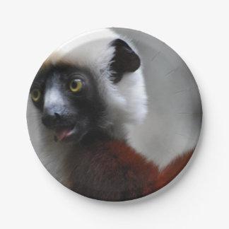 Adorable Safika Lemur 7 Inch Paper Plate