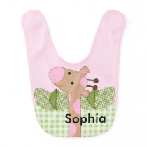 Adorable Sassy Jungle Safari Giraffe Baby Bib