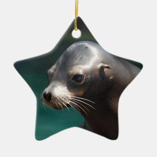 Adorable Sea Lion Christmas Tree Ornament