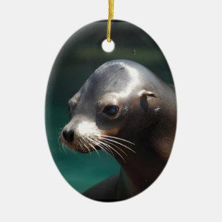 Adorable Sea Lion Christmas Tree Ornaments