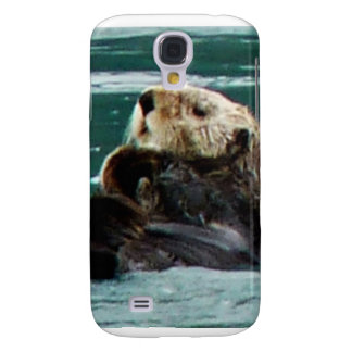 Adorable sea otter i phone3 speck case galaxy s4 case