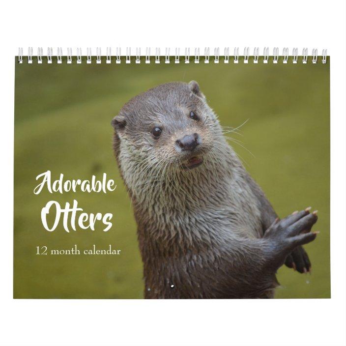 Otter Calendar 2021 Wallpaper
