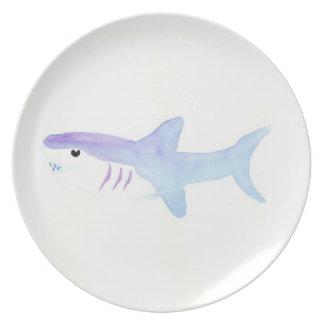 Adorable Shark Melamine Plate