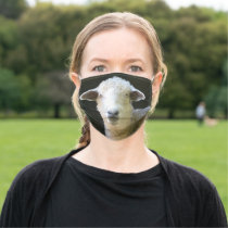 Adorable Sheep Adult Cloth Face Mask