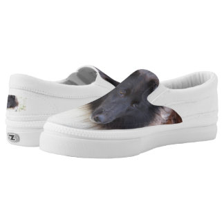 Adorable Sheltie Slip-On Sneakers